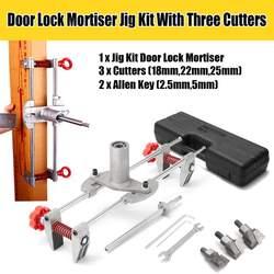 Nowy 8 sztuk wpuszczane okucia drzwiowe Jig frezarka do zamków DBB klucz JIG1 z 3 noże przypadku nowe narzędzie zestaw do pielęgnacji w Akcesoria ślusarskie od Narzędzia na
