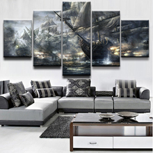 5 Panel Ships On The Sea Modern Frame Paintings Canvas Wall Art Picture Home Decoration Living Room Print Painting