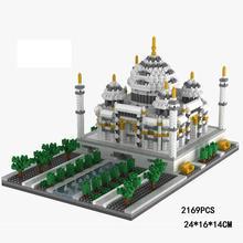 hot LegoINGlys creators city Street view India Landscapes Taj Mahal mini micro diamond building blocks model bricks toys gifts