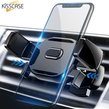 KISSCASE Car Phone Holder For iPhone X XS Max XR 7 8 360 Rotation Auto Mount Stand Support Air Vent in