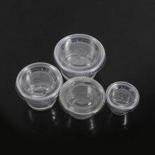 Соус Chutney чашки одноразовые пластиковые прозрачный соус Chutney чашки коробки с крышкой еда на вынос аксессуары 50 шт