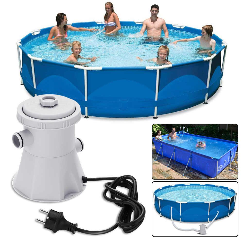 220V EU Electric Filter Pump Swimming Pool Filter Pump Water Clean Dirty  Pool Pond Pumps Filter Swimming Pool Water Cleaner