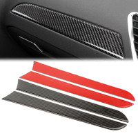 4x Carbon Fiber Inner Car Door Panel Moulding Trim Cover Protector Decoration For Audi A4 B8 2009 2010 2011 2012 2013 2014 2015