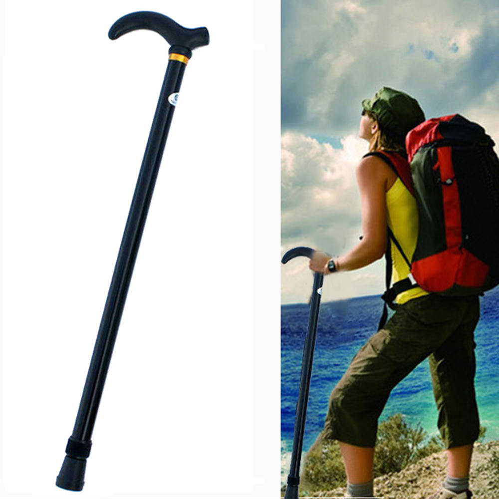 1pc Retractable Anti Shock Walking Sticks Telescopic Trekking Hiking Poles Ultralight Sports Camping Mountaineering Crutch