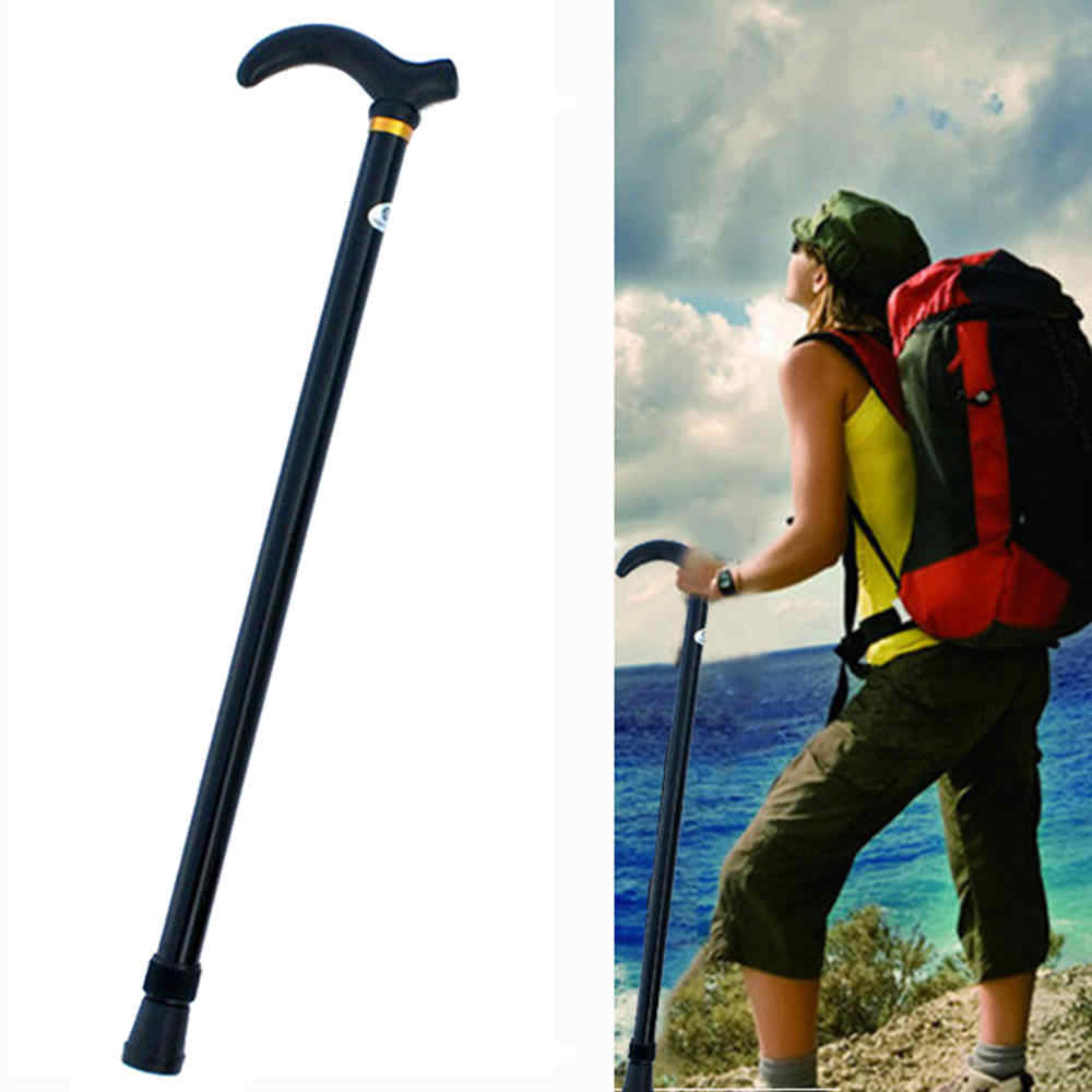 1 PC Retractable Anti Shock Tongkat Teleskopik Trekking Hiking Poles Ultralight Olahraga Camping Mountaineering Crutch