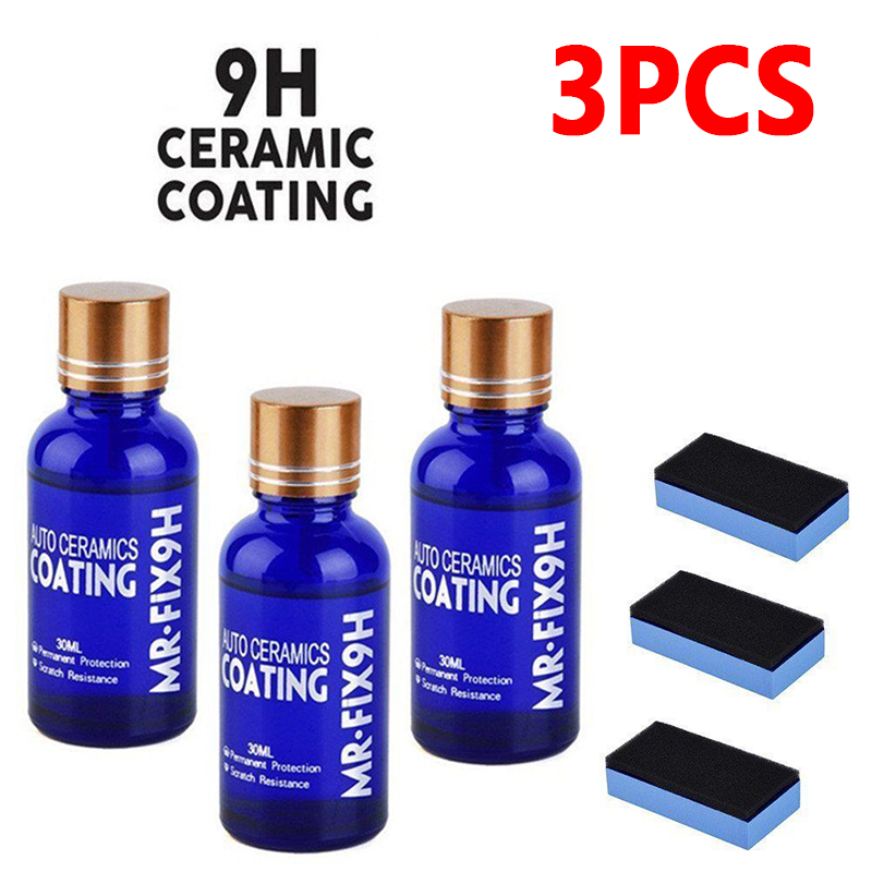 Paint Glass Coatings Cares Ceramics Liquids Wax Anti Scratch Auto Nano Practical H9 Nano Ceramic Car Glass Coating Liquid