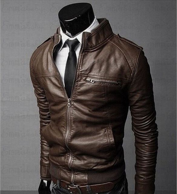 Mens Classic Motorcycle Leather Jacket 2