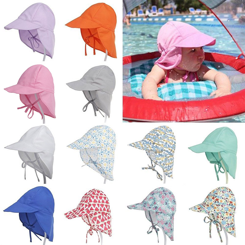Girls 6 M-5 Years  Legionnaire Cap Baby Beach Cotton Hat Boys Sun Summer Kids