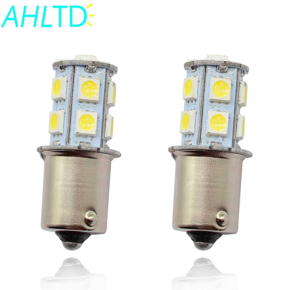 2Pcs 1156 BA15S 1157 BA15D P21W 13Led 5050 Car Led Turn Signal Lights Brake Tail Lamps Auto Parking Rear Reverse Bulbs DC 12V