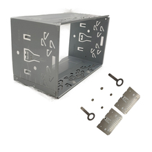 Kit de montagem de 2din para montagem, instalação de unidade de rádio, kit de acessórios gerais de 2din, caixa de reprodutor de rádio automotivo