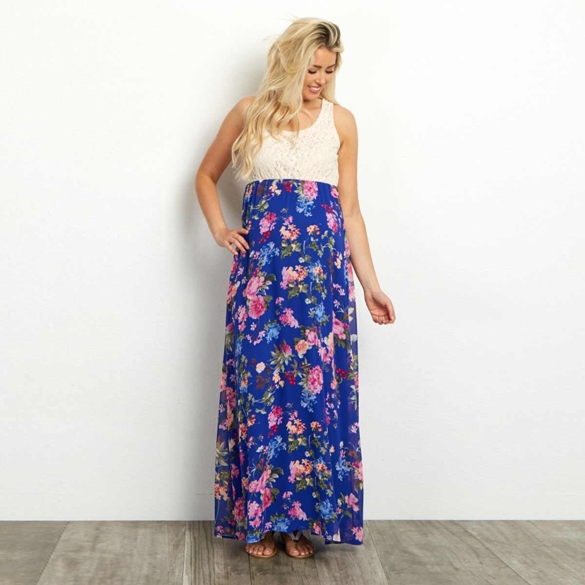 Кружевное комбинированное печать номера жилет беременная женщина легкое платье элегантные платья для беременных для фотосессии лидер продаж; новинка полиэстер
