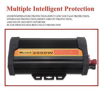 Convertitore Da CA A 12 V CC | Dual USB Max 4000 Watt 2000 W Di Potenza Inverter DC 12 V A AC 220 Volt Adattatore Per Auto Di Carica Del Convertitore Modificato Onda Sinusoidale Trasformatore