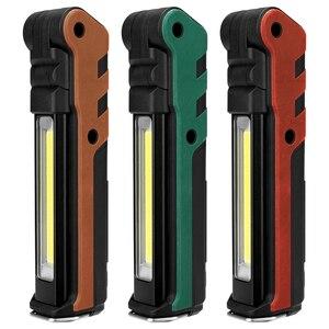 Image 2 - Lanterna magnética de led, mais nova lanterna portátil recarregável por usb, cob, pendurada em gancho, para uso ao ar livre, 2019