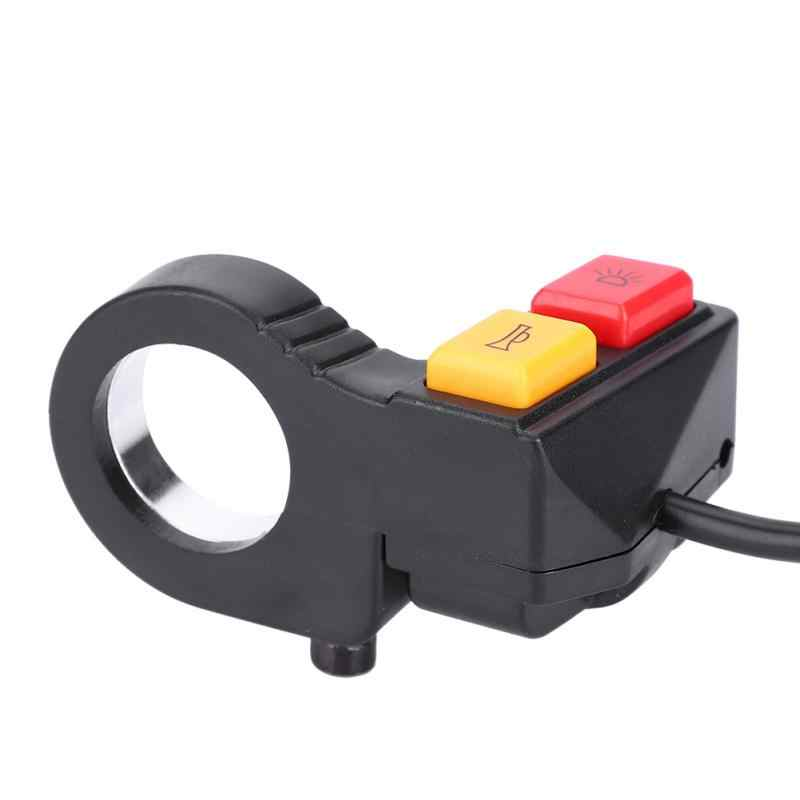 Electric Bike 2 in 1 Head Light Horn Switch Turn Signal Bell Switch Button for Motorcycle E-Bike Electric Scooter Bicycle