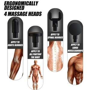 Image 2 - Pistolet de Massage musculaire 20 vitesses thérapie par Vibration Percussive masseur de tissus profonds Relax soulagement de la douleur Fascia Machine de Massage 4 têtes