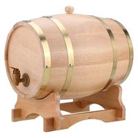 Vintage Wood Oak Timber Wine Barrel Dispenser for Whiskey Bourbon Tequila 10L