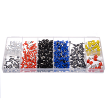цена на 685pcs Wire End Ferrule Assortment Insulated 0.5/0.75/1/1.5/2.5/ 4/6/10mm2 End Sleeve Cable Lugs