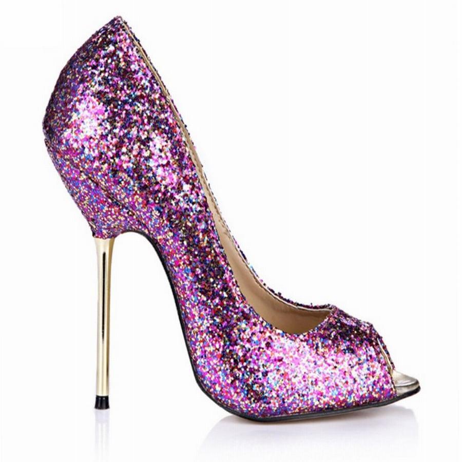 Femmes mode peep toe hauts talons 2018 nouveauté sexy dames mince à talons hauts grande taille 42 43 chaussures bout ouvert parti pompes de bal