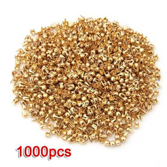 1000 Gold Ton Runde Dome Niet Spike Studs Spots Diy-rock-punk 2,5mm 100% Garantie