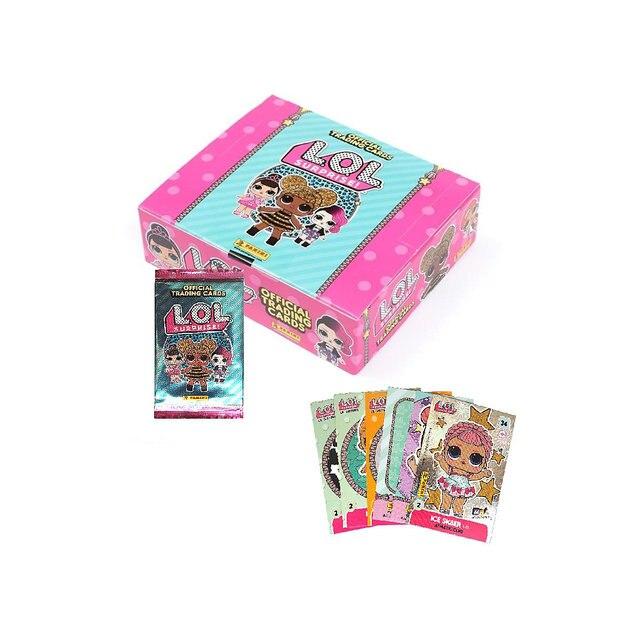 Бокс с наклейками Panini LOL Surprise, 24 пакетика по 6 наклеек