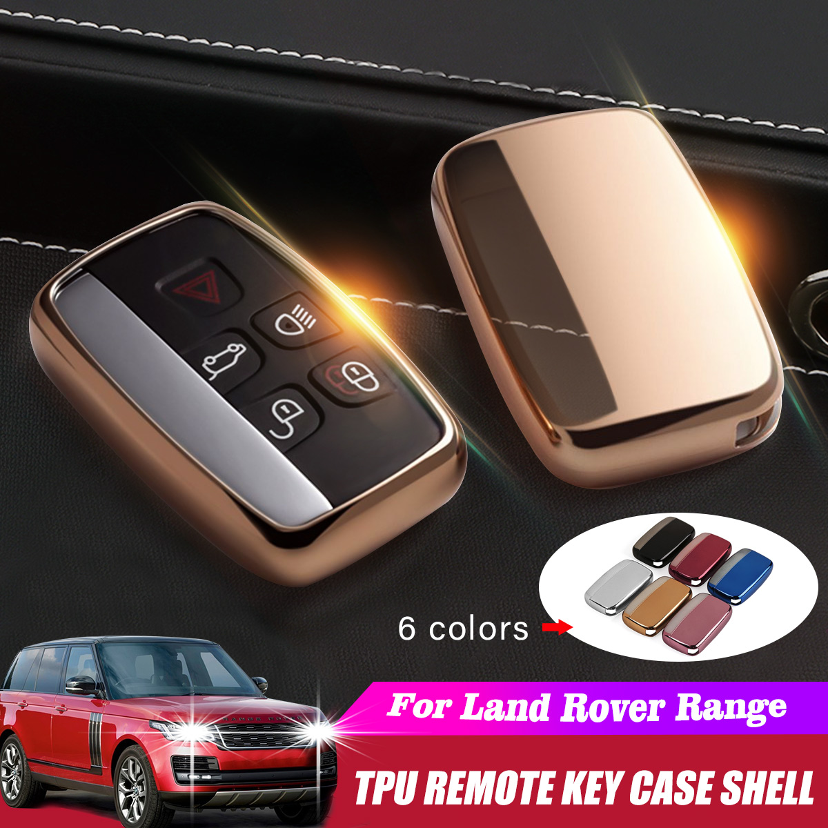 TPU Car Key Case Cover For Land Rover A9 Range Rover Sport 4Evoque Freelander 2 Discovery For Jaguar XE XJ XJL XF C-X16 Guitar