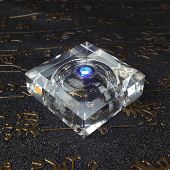 Small Multicolor LED Crystal Light Stand Support Decoration Craft Crystal Display