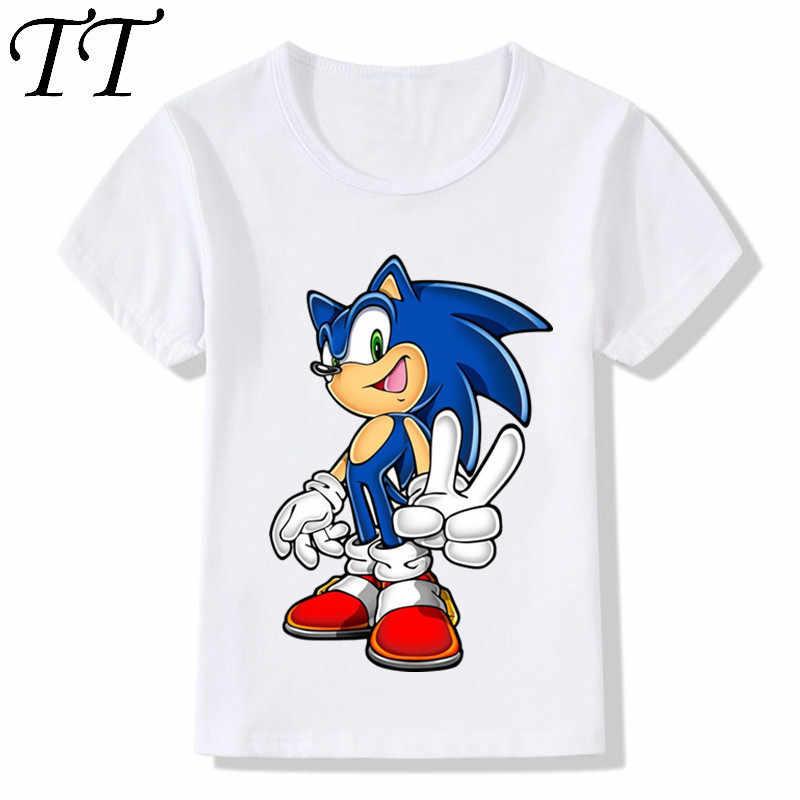 6eaeb54dd Los niños Sonic el Hedgehog niños niñas camisetas de dibujos animados  diseño divertido camisetas de verano