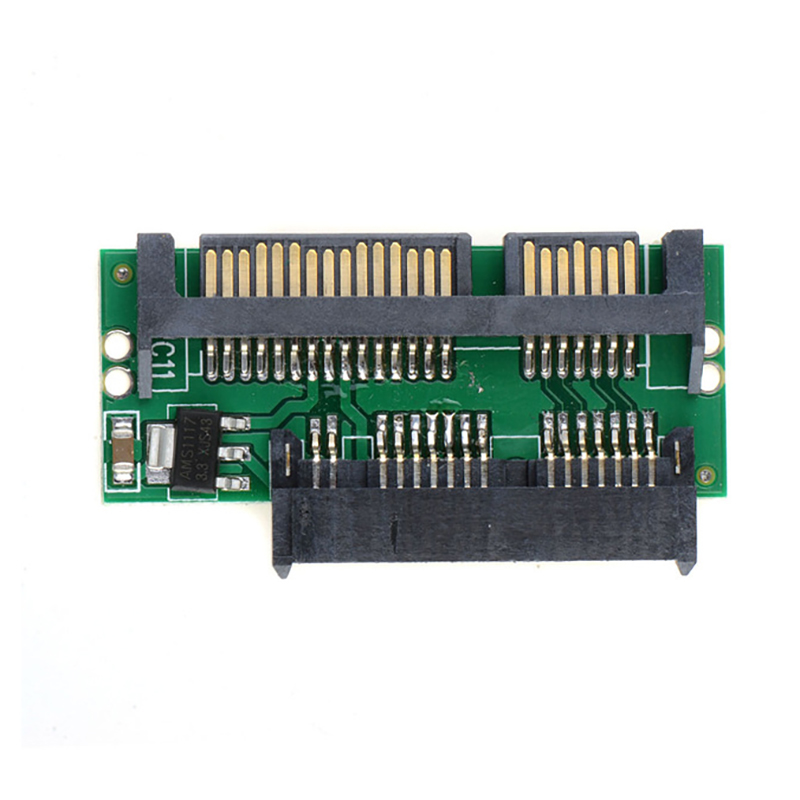 1.8inch 7+9 16Pin Mini Sata To 2.5inch 22Pin Sata Card Converter Adapter 5V 3.3V