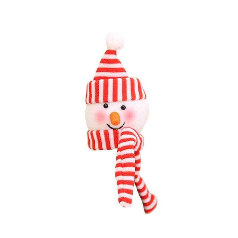 1 шт. Рождество снеговик ткань кукла дизайн колпачок для винной бутылки крышка стол Ужин фестиваль вечерние украшения