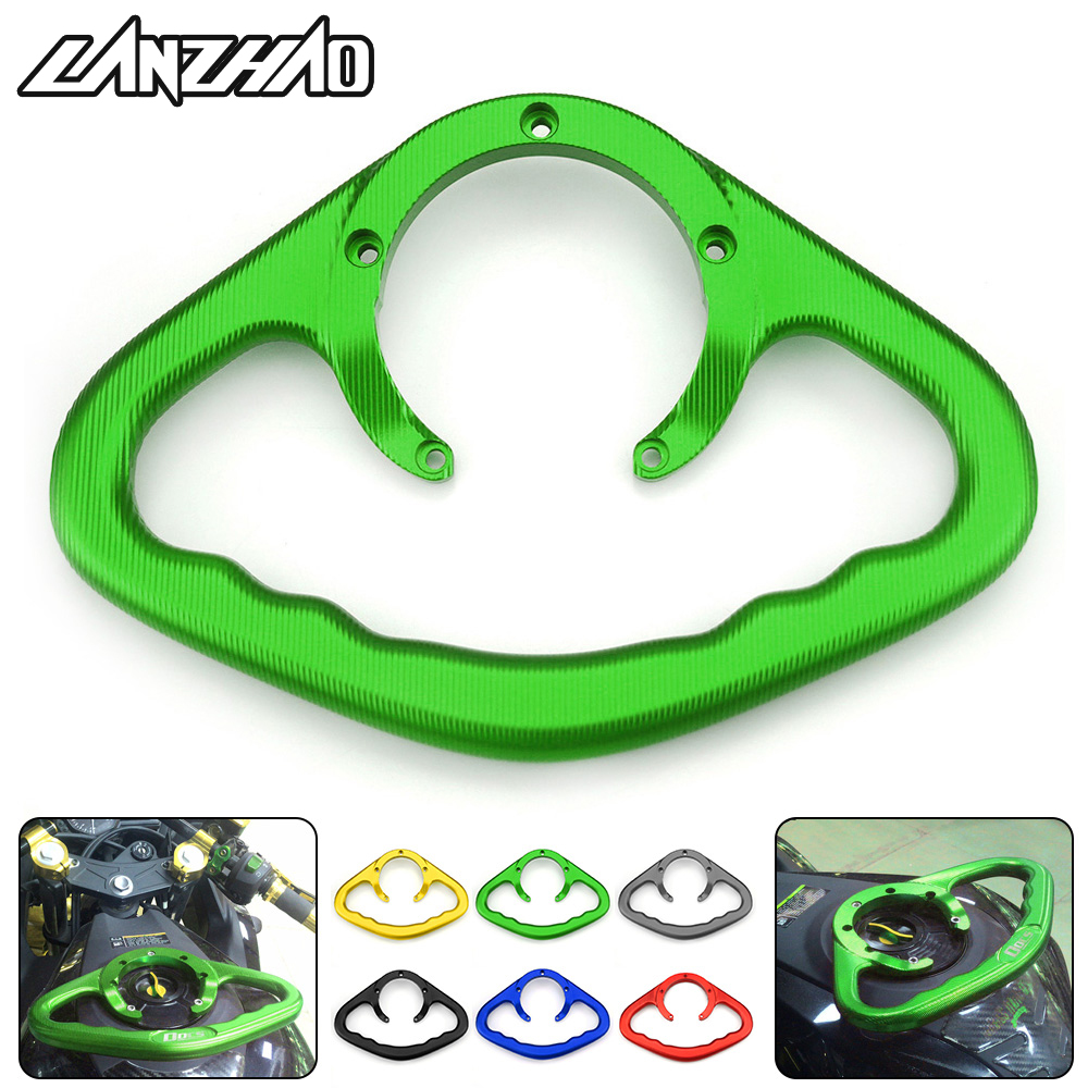 CNC Aluminum Passenger Handle Fuel Tank Cap Hug Hold Racing Armrest Grab for Kawasaki Cross-riding Motorcycles Z900 Z1000 Z800 bjmoto 7 colors for kawasaki z750 z800 z900 z1000 cnc aluminum rear brake fluid reservoir cover cap