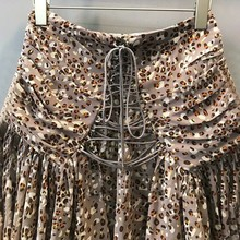 TWOTWINSTYLE Sexy Print Women Skirt High Waist Bandage Asymmetrical Short Pleated Skirts Female Summer 2019 Vintage Fashion