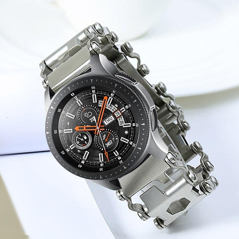 Pour Samsung Galaxy montre 46mm Gear S3 acier métal outil Bracelet montre Bracelet pour Garmin Fenix 3 HR 5X Bracelet de montre