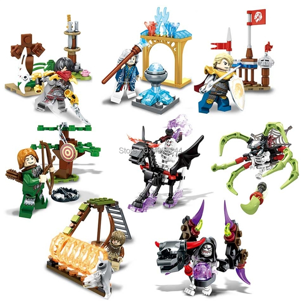 Constructive Sd3000 8set Ghost Tribes Knight Devil Skeleton Magician Shooter War Building Blocks Bricks Toy Toys & Hobbies