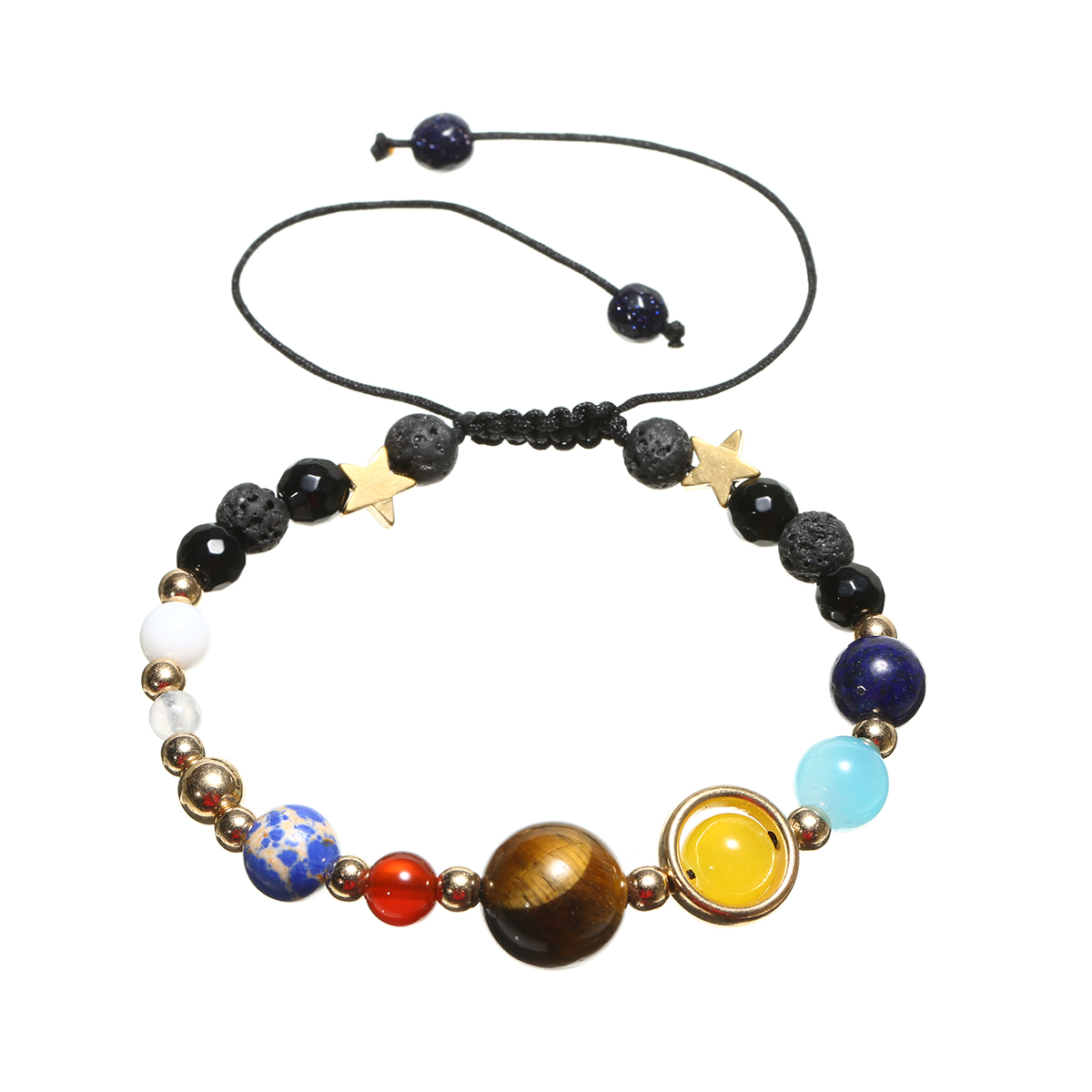 Charms Unisex Adjustable Planets Solar System Star Men Women Bracelet Universe Galaxy Beaded Bangles Unique Jewelry Chic Gifts