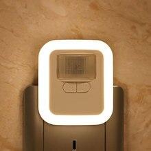 Светодиодный вставной светильник с датчиком движения, настенный ночник, светильник с яркостью 30 s/60 s/90 s/120 s, светильник, регулируемое время для гостиной