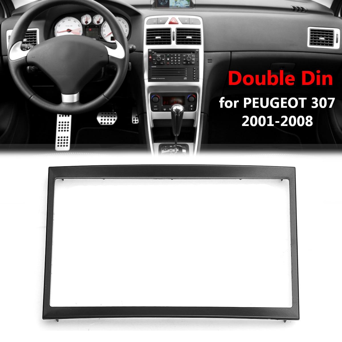 Auto Auto 2 Din CD Trim Dash Mount Kit Stereo Radio Fascia Panel Platte Rahmen Adapter für Peugeot 307 2001 -2008