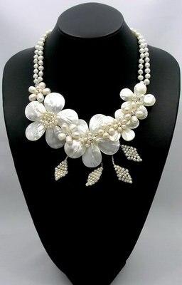 2017 Vente Offre Spéciale Femmes À La Mode Usine Colliers et Pendentifs Collares Naturel Mère De Perle/mop Shell Fleur Feuille collier