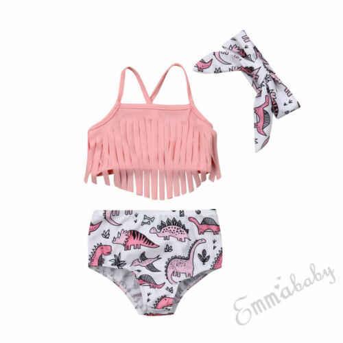 Pudcoco Criança Crianças Bebê Menina Tassel Bikini Set Swimwear Swimsuit Fato de banho