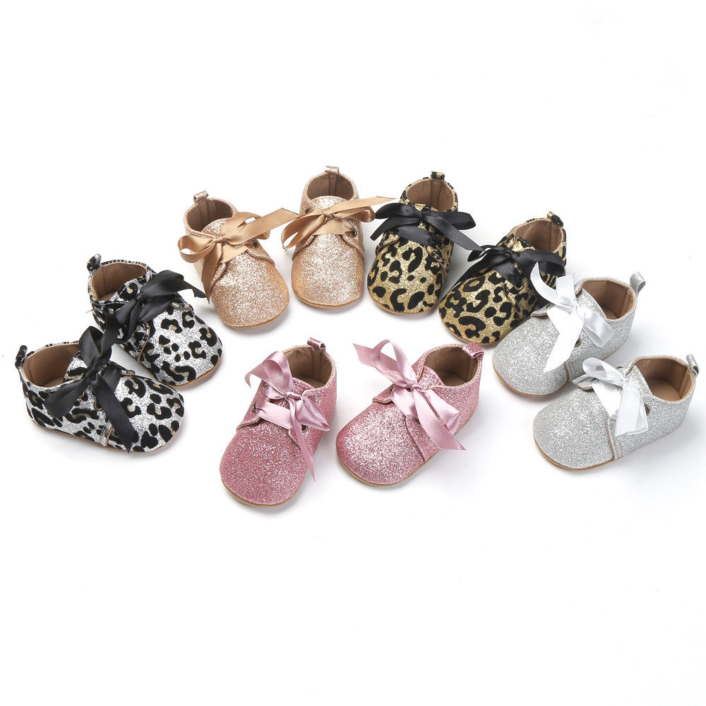 Pudcoco Baby Shoes Infant Toddler Glitter Soft Shoes Baby Boy Girl Shoes Pre-walker 0-18 Months AU