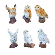 6-Style Mini Artificial Animal Owl Miniature Fairy Garden Home House Decoration DIY Craft Micro Landscaping Decor Accessories(China)
