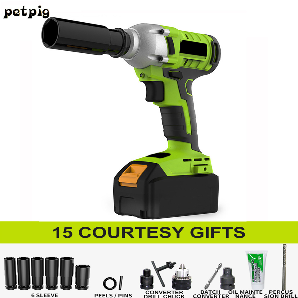 High Power Electric Wrench Cordless Drill Car Repair Power Tool Battery Puncher Impact Wrench Electric Tools Set Screwdriver pressure switches valves switch air compressor pressure control switch valve heavy duty 90 psi 120 psi
