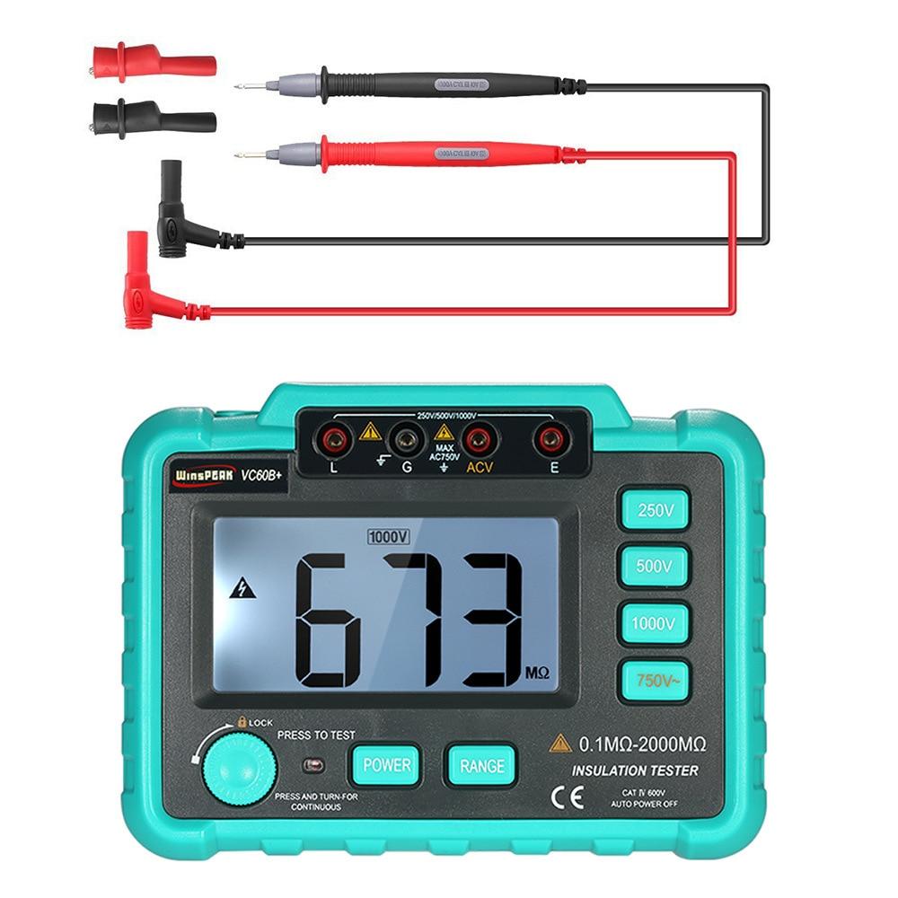 Multimètre numérique mètre de mesure testeur de résistance d'isolation numérique instrument électrique tramegger VC60B + megger