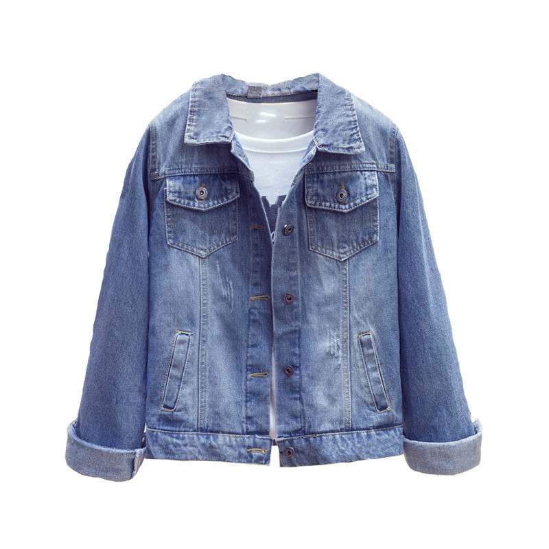 2019 Plus Size 5XL Denim   Jacket   Women Boyfriend Jean Coat Streetwear Vintage Autumn Single Breasted   Basic     Jacket   Outerwear