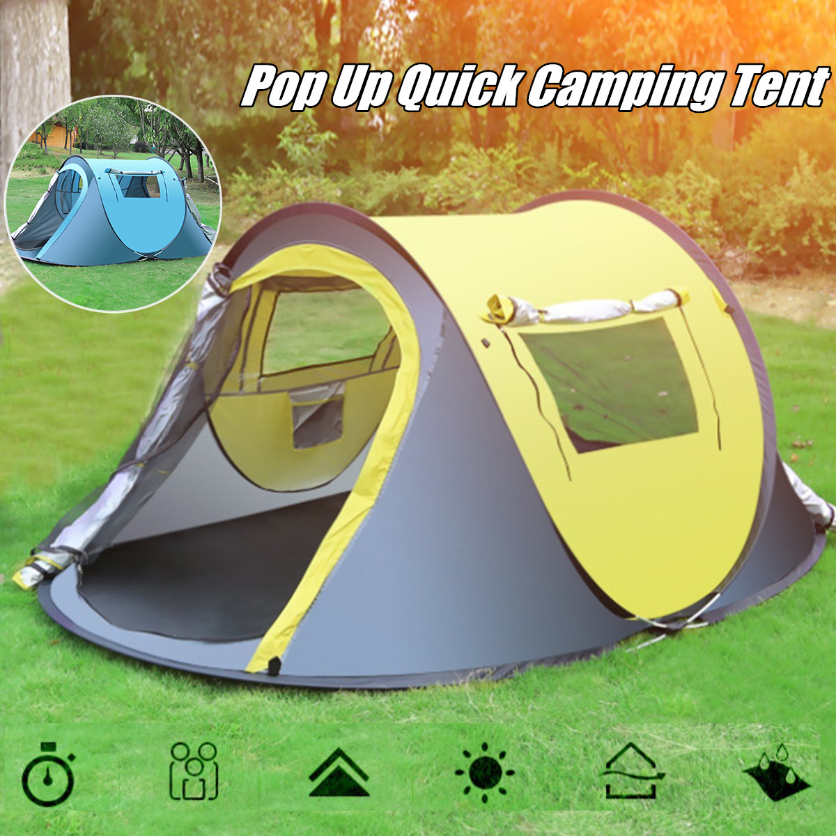 все цены на Throw Tent Outdoor Automatic Tents Throwing Pop Up Waterproof Camping Hiking Tent Waterproof Large Family Tents