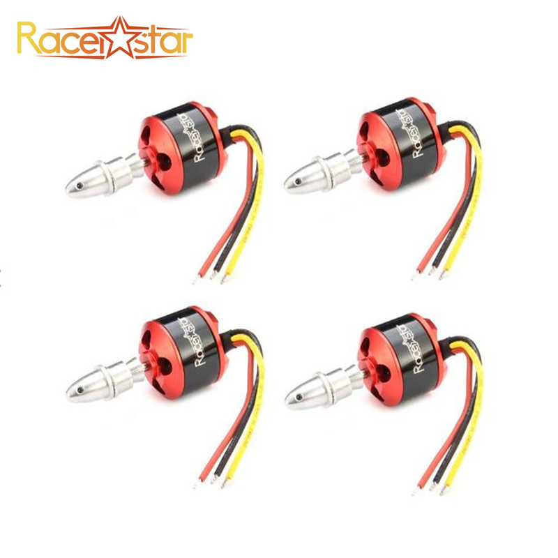 1/4PCS Racerstar BR2212 1400KV 2-4S Brushless Motor For RC Airplane Quadcopter FPV Drone Multicopter RC Parts Multirotor Accs