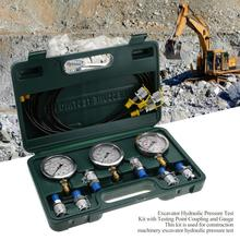 Hydraulic Pressure Test Kit Hydraulic Pressure Guage Excavator Hydraulic Pressure with Testing Point Coupling and Gauge