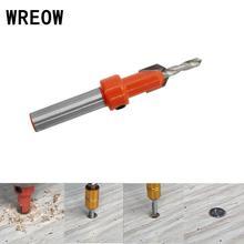 Wiertło rozwiercające Hss Bit wkręty do obróbki drewna fazowanie wiertła do drewna Bit pogłębiający okrągły trzpień obróbka drewna z tworzywa sztucznego tanie tanio WREOW Maszyny do obróbki drewna NONE Inne CN (pochodzenie) Size 2 8x8mm 2 8x10mm 3 0x8mm 3 0x10mm 3 2x8mm 3 2x10mm 3 5x8mm