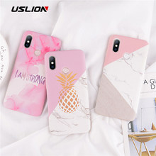 USLION Pinapple marble для Xiaomi 8 SE 5 6 6A Redmi Note 5 6 5A Redmi 6 Pro Note 3 4 I am Strong Case для Xiaomi Note 2 3 Case(China)