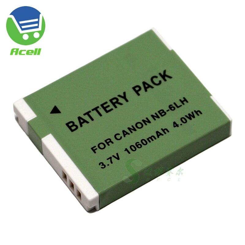 NB-6LH NB-6L Batterie pour Canon PowerShot D10 D20 D30 S90 S95 S120 SX260 SX280 SX530 SX540 SX600 SX610 SX700 SX710 Caméra HS