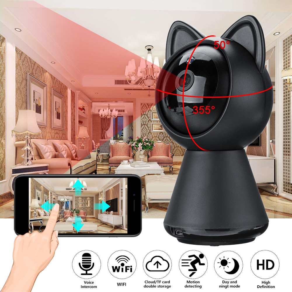 1080P HD Security IP Camera Wi-Fi Wireless Horizontal Rotation Network Camera Surveillance for Phone Control Safe  Camera 1080P HD Security IP Camera Wi-Fi Wireless Horizontal Rotation Network Camera Surveillance for Phone Control Safe  Camera